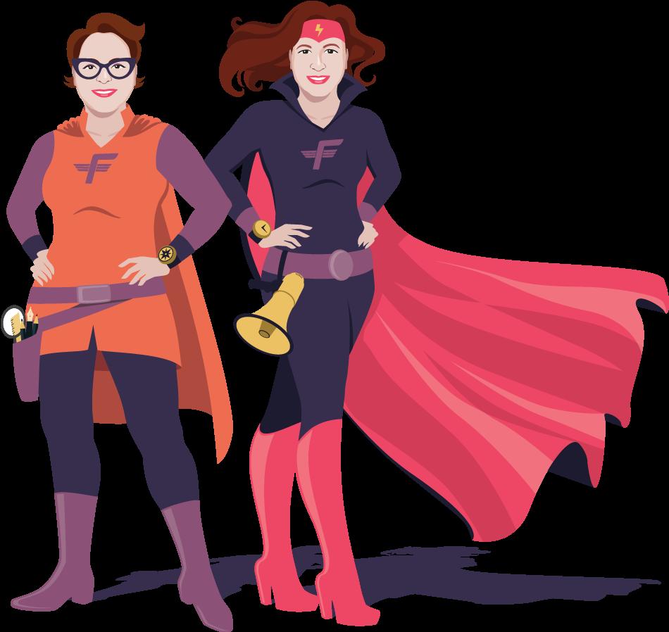 2 superhéroïnes